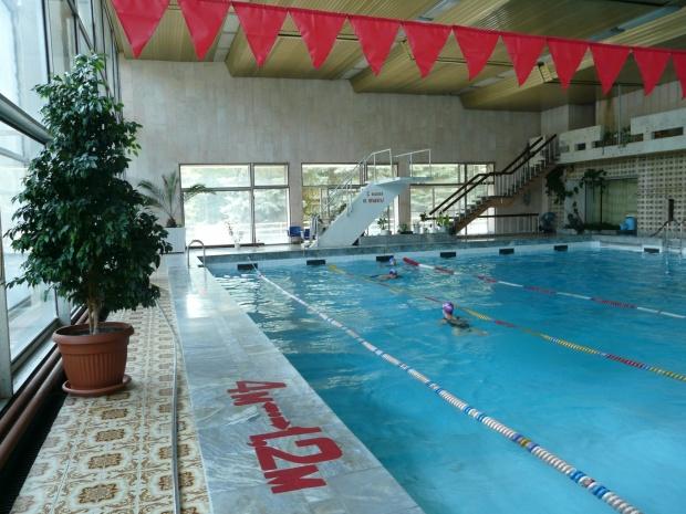 Раздевалка женская в бассейне